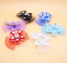 High Quality Hair Bows Polygonal Flower Hair Clips Pear Baby Girl Hairwear Baby kids Hairpins Children