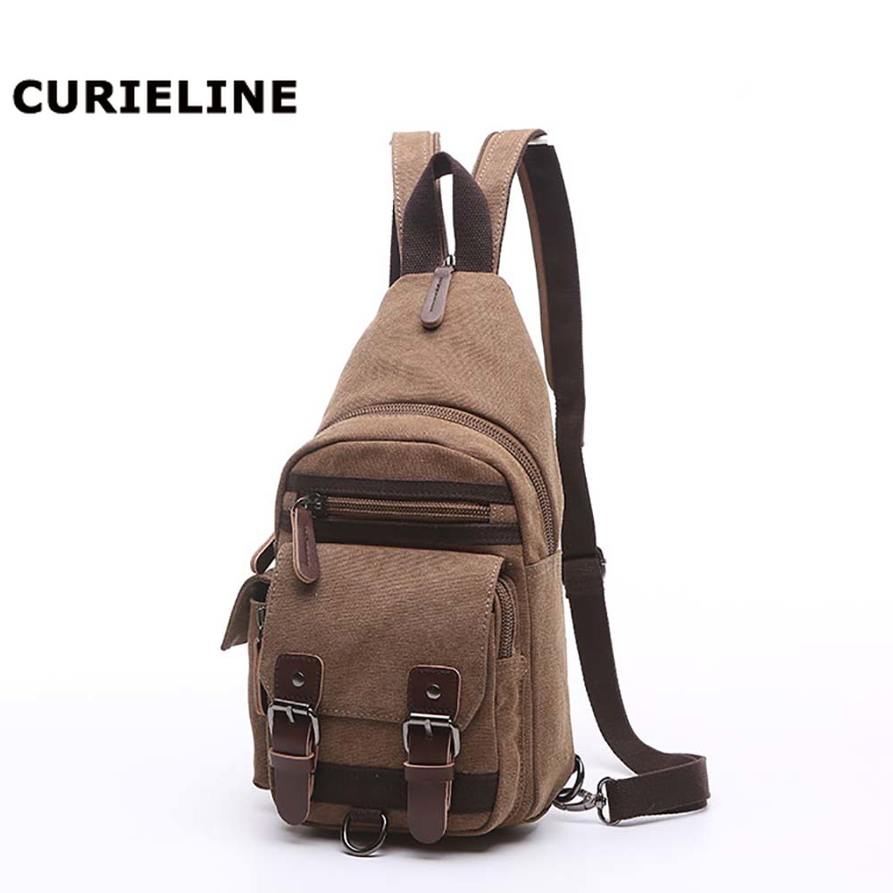 latest model fashion chest bag, sling bag men casual canvas wholesale