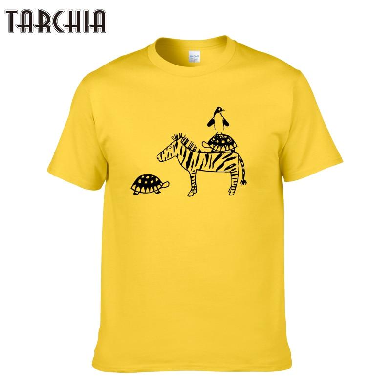 TARCHIA Animal Print Men's T-shirts Cartoon Summer Fashion Men T Shirts Hip Hop Short Sleeve Tees Plus Size Cotton Tees Tops