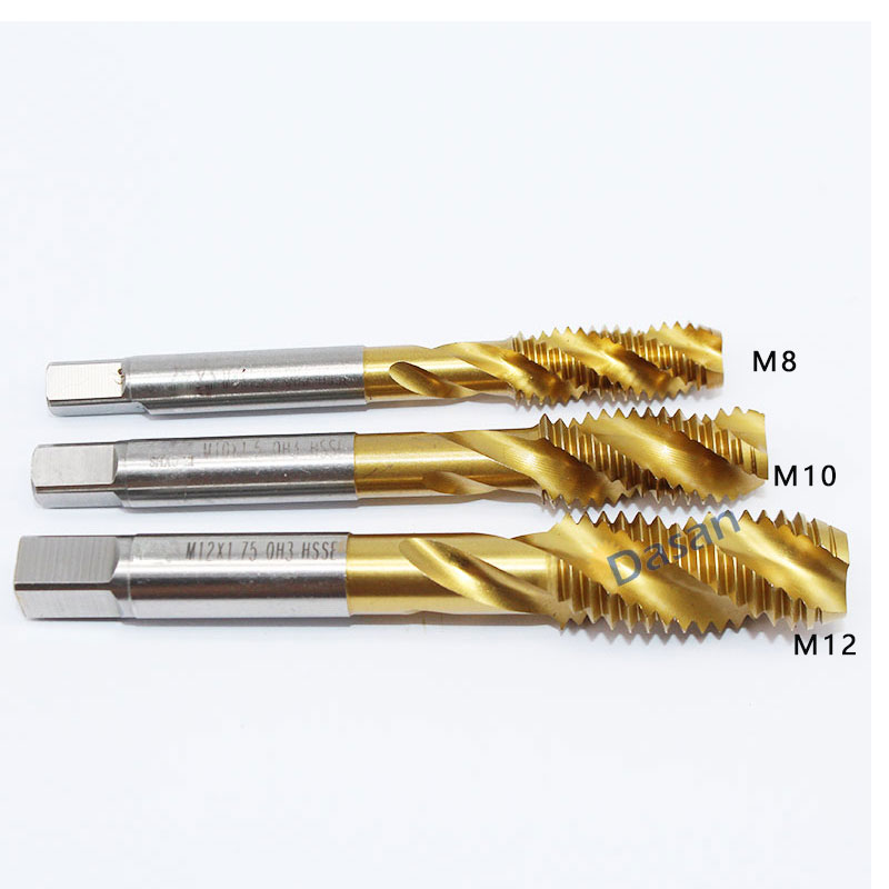 5PCS M12 M10 M8 tap hss Spiral Flute Machine HSSE Cobat 1mm 1.25mm 1.5mm metric taps drill Metal Tapping Tools free shipping free shipping 1pc m26 pitch 3 0 length 130mm hss m35 co5% full cnc grinded spiral flute machine hss tap screw taps for ss plate