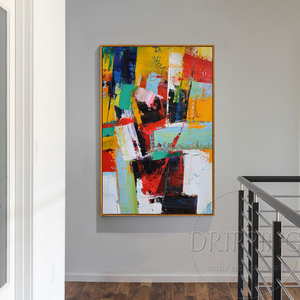 Image 3 - Fashion Wall Art Hand painted Rich Colors Abstract Oil Painting on Canvas Big Brush Knife Abstract Oil Painting for Living Room