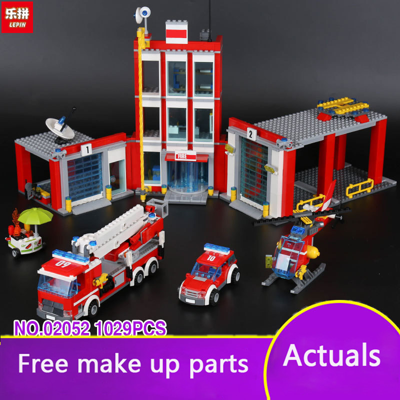137/5000 Lepin 02052 City Series The Fire Set 1029Pcs Genuine 60110 Building Blocks Bricks Educational Toys Christmas Gift Mode lepin 02054 genuine city series 239pcs the fire ladder truck set 60107 building blocks bricks educational christmas toy as gift