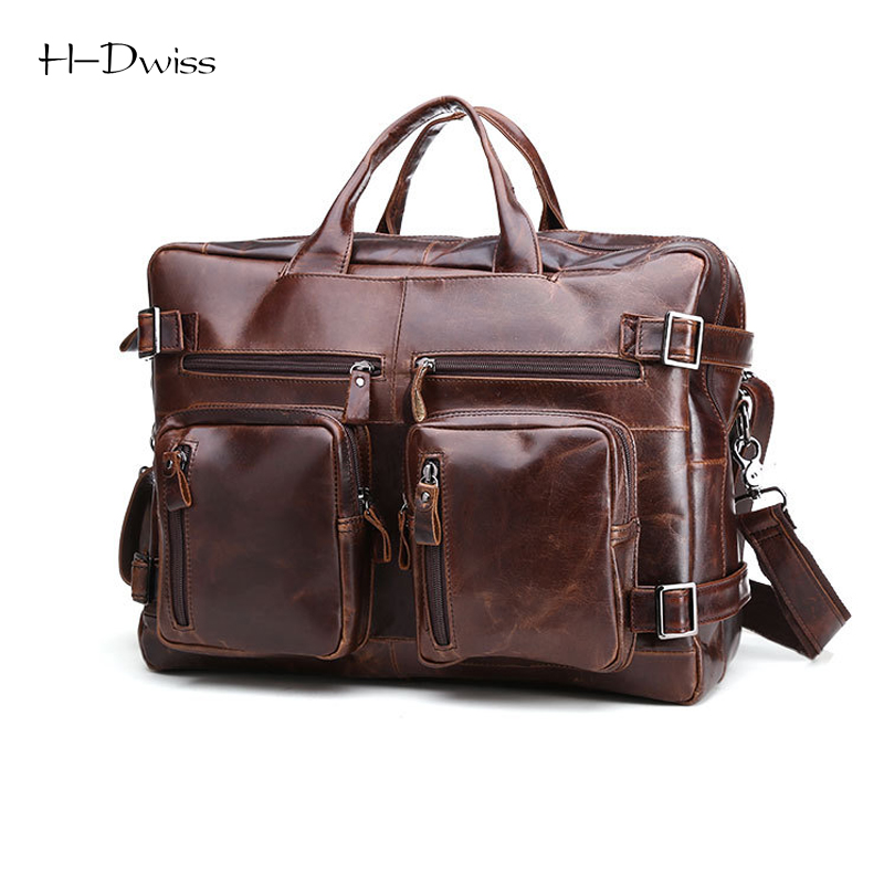 HDWISS Genuine Leather Men Travel Bags Duffel Duffle Bag Carry on Hand Luggage Packing cubes Leather Traveling Bag Backpack