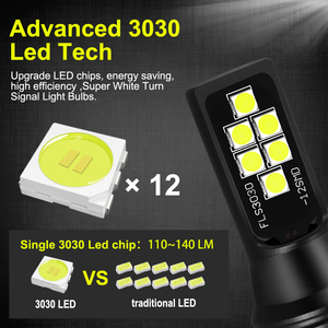 Image 2 - 2 adet araba sis farları H7 lamba süper parlak LED 12 3030SMD 12V 24V 6000K beyaz sürüş koşu Led h7 ampuller oto otomotiv