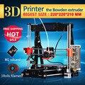 Recentes atualizado qualidade de alta precisão de impressora reprap prusa i3 3d diy Kits completos com 1 rolos de filamento 8 Gb cartão SD frete grátis