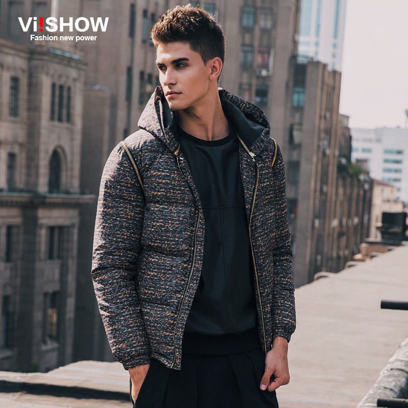 VIISHOW Brand Warm down Coat Men Jacket Outwear winter Jacket Men Sleeve and hat detachable Jacket Windproof Overcoat Y122754