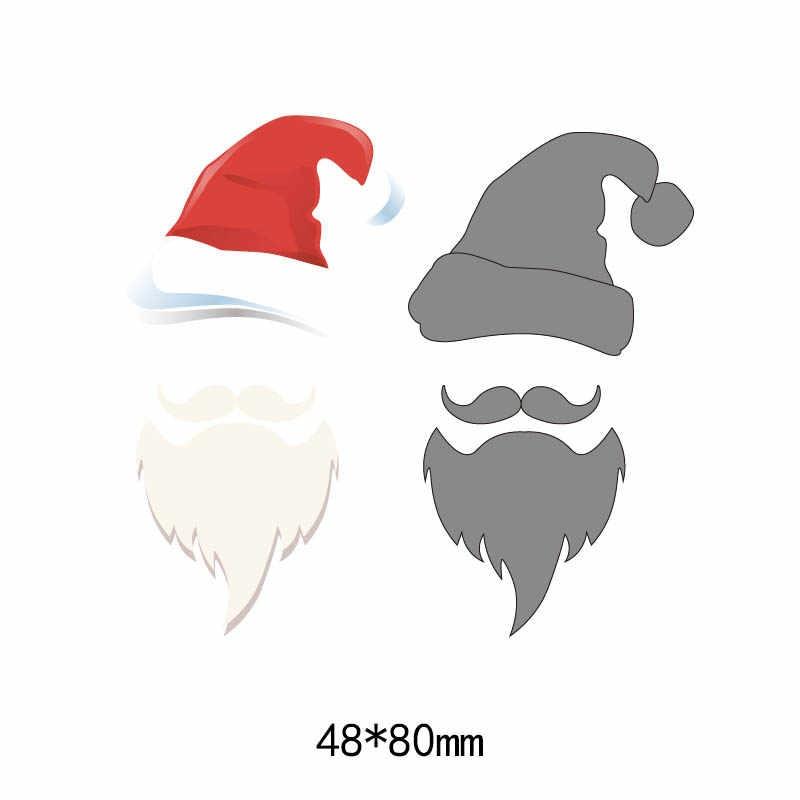Merry Christmas Santa Claus Cutting Dies For Diy Scrapbooking Handmade Paper Craft Metal Steel Template Dies 5 Pcs Aliexpress