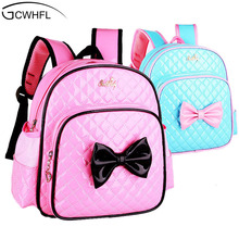 2 7 Years Girls Kindergarten Children Schoolbag Princess Pink Cartoon Backpack Baby Girls School Bags Kids