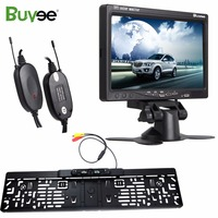 Buyee Wireless 7 Inch TFT LCD Car Mirror Monitor Rear View Camera Car Parking Reverse Camera