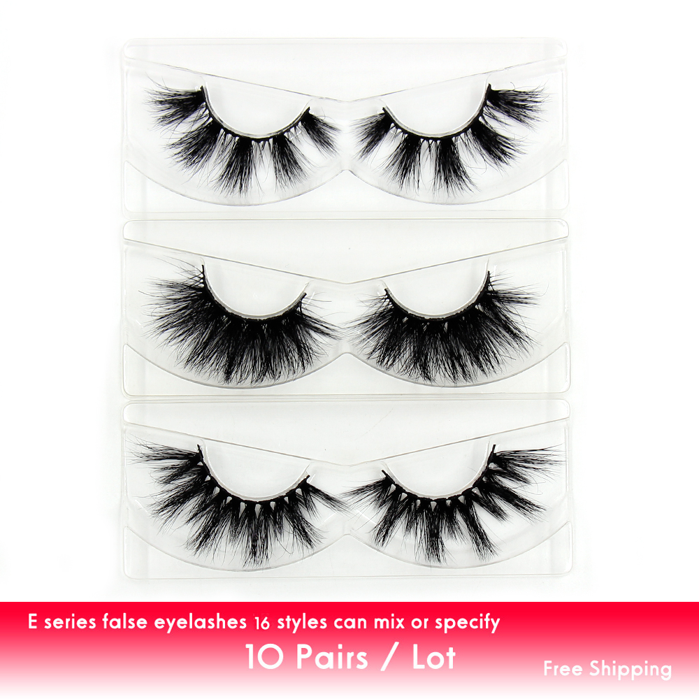 LEHUAMAO 10 Pairs/Lot Eyelashes 3D Mink Eyelash Fluffy Lashes Thick Band Flexible Luxurious False Eyelash Unique Styles Makeup