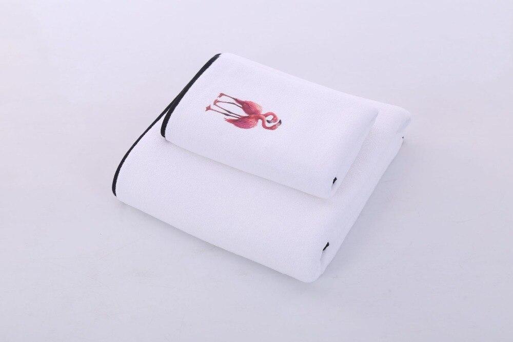 Getrouw 2 Stks/set Flamingo Polyester/katoenen Handdoek Sets Bad Gezicht Handdoek Quick Dry Soft Handdoeken Adult Kids Bad Super Absorberende Handdoeken Om Het Lichaamsgewicht Te Verminderen En Het Leven Te Verlengen