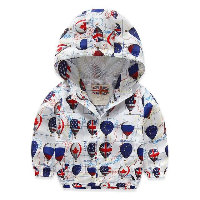 ff7e7f4b3b89 Online Shop 2018 Fashion Children Jackets Hooded cartoon Printed ...
