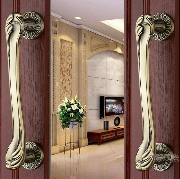 2 pcs  Door shake hands handle european-style villa archaize wooden door handle2 pcs  Door shake hands handle european-style villa archaize wooden door handle