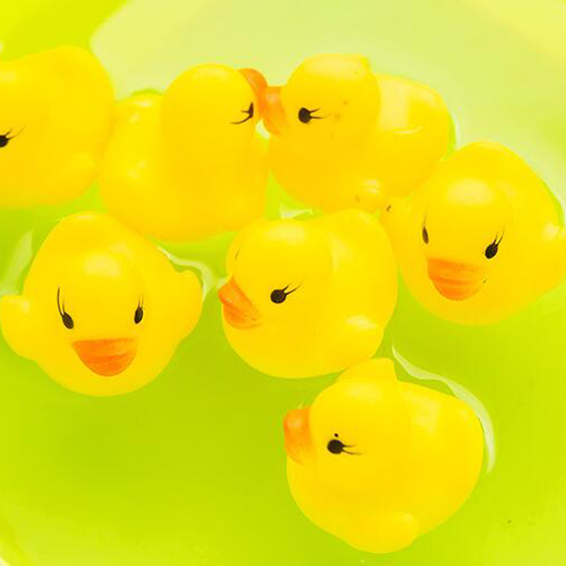Superb 20Pcs/Set Take Shower Cute Utterance Yellow Rubber Duck Sets Kids Bathroom  Sets Portable Shower