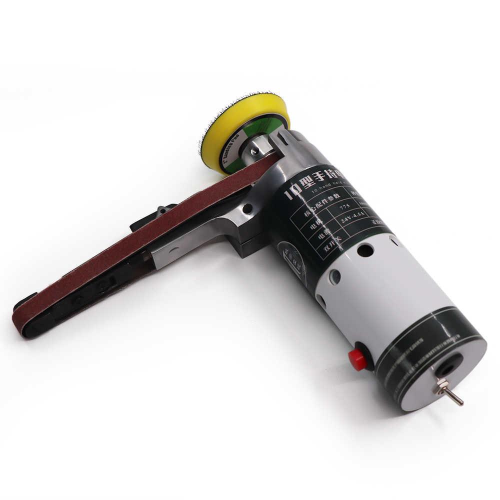 Elektrische Bandschuurmachine polijstmachine Mini Grinder Kleine Slijpen polijstmachine polijstmachine met Schuren Riemen Tool Case Slijpkoppen
