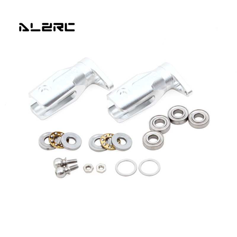 ALZRC Devil 505 FAST RC Helicopter Parts Metal Tail Rotor Holder Silver For  RC Toy Models Spare Part Accessories Accs alzrc devil 450 pro v2 fbl super combo rc helicopter kit rc electric helicopter 480n frame kit power driven helicopter drone