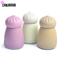 CAKEHOUD 260ml Cute Mini Thermos Cup Cartoon Style Lovely Stainless Steel Mug Portable Travel Vacuum Cup