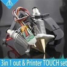 3D Printer Diamond Hotend Brass Multi Color Nozzle hot end 0.4mm/1.75mm for I3 Extruder fan kit + Auto leveling sensor