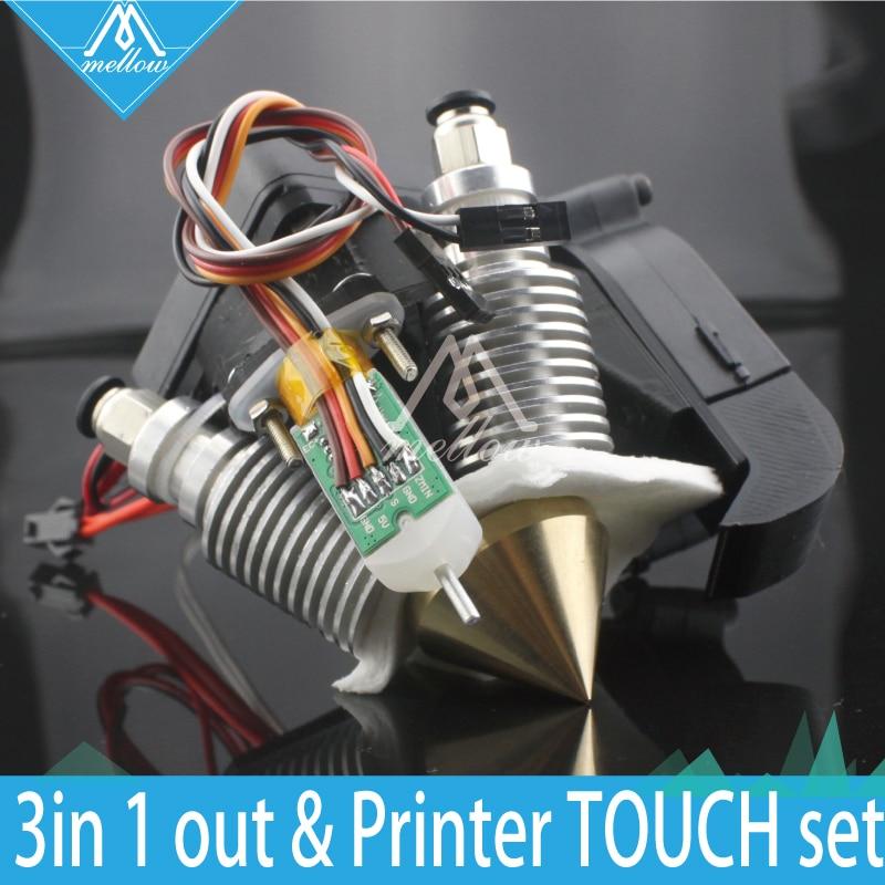 Moelleux 3D Imprimante Diamant Hotend Laiton Multi Couleur Buse chaude fin 0.4mm/1.75mm pour I3 Extrudeuse ventilateur kit + Auto nivellement capteur