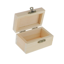 Unfinished Unpainted Plain Wooden Rectangle Jewellery Tool Case/Storage Box for Arts Crafts Hobbies