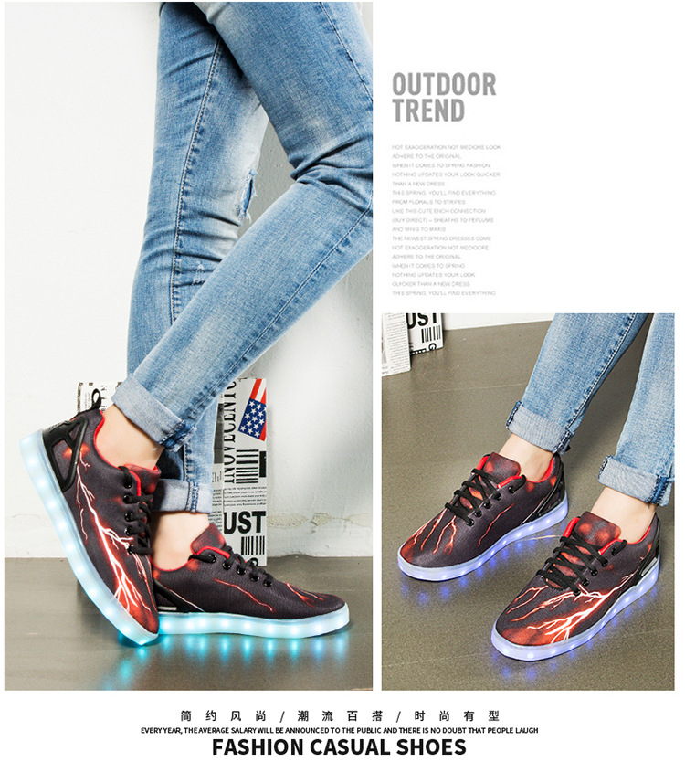 Led Sneakers Lightning 23