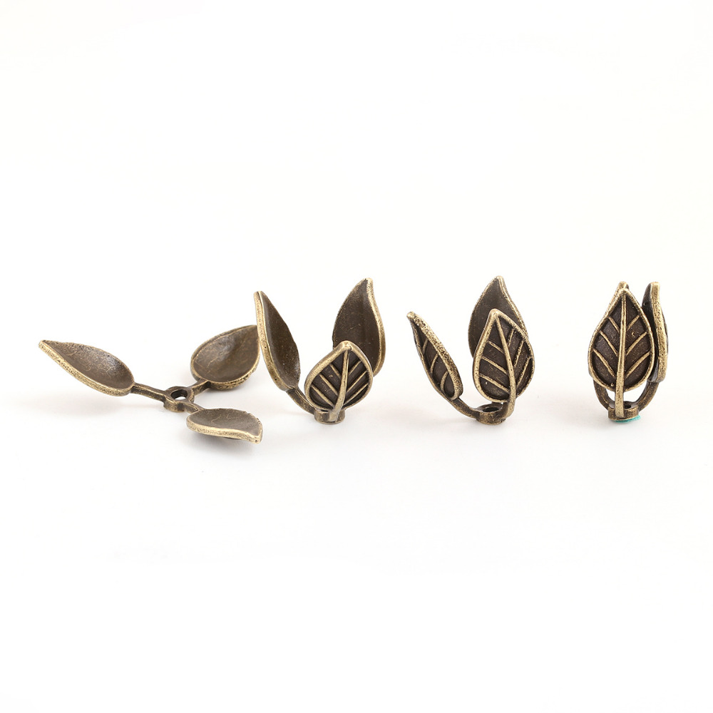 DoreenBeads Copper Antique Bronze Beads Caps Leaf Pattern Findings (Fit Beads Size: 12mm Dia.) 18mm( 6/8) x 15mm( 5/8), 3 PCs doreenbeads copper brass connectors jewelry findings leaf brass tone blank 31mm 1 2 8 x 16mm 5 8 hole 2mm 4 pieces