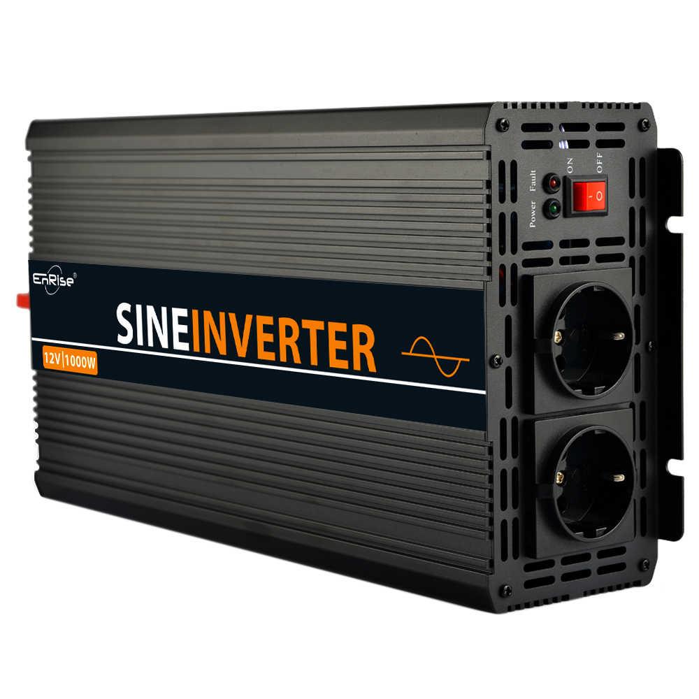 Przetwornica 12V 220V 1000/2000W transformator napięcia czysta fala sinusoidalna przetwornica napięcia DC12V do AC 220V konwerter