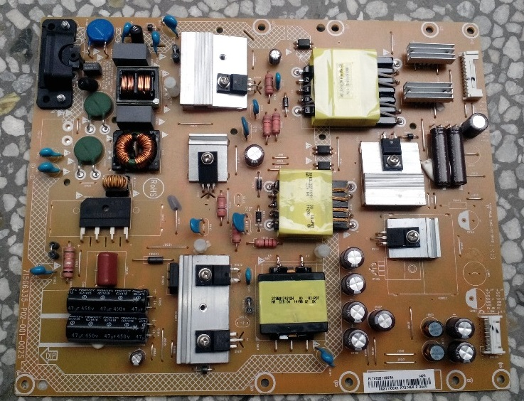 40PFL3240 power panel 715G6335-P02-001-002S is used 42pfl9509 power panel 2300kpg109a f is used