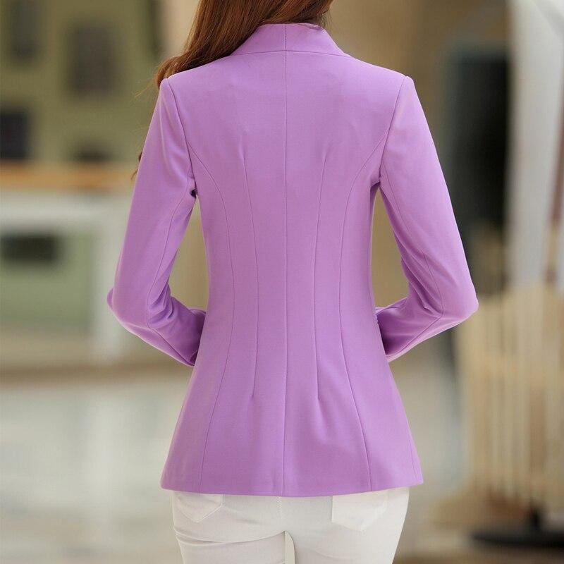 2017 Autumn Women Blazers Female Jackets Candy Color Coats Long Sleeve Slim Suits One Button Outwear Work Wear Blazer Plus Size in Blazers from Women 39 s Clothing