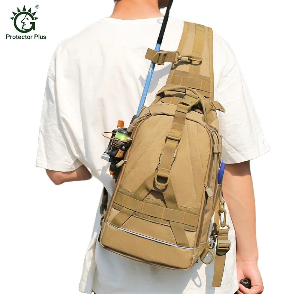 Fishing Backpack Gear Storage Tackle Bag Outdoor Camping Sling Bag