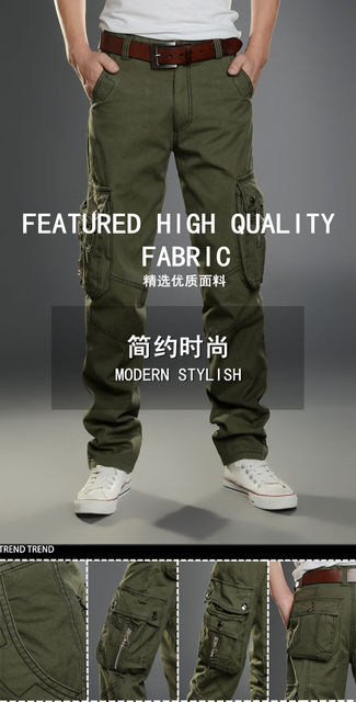 Cargo Pants Men Combat SWAT Army Military Pants Cotton Many Pockets Stretch Flexible Man Casual Trousers  Plus Size 28- 38 40 21
