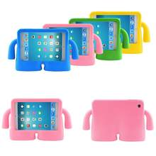 3317e05416 Shockproof Kids Child Handle Foam Case Cover for Apple iPad air 2 iPad 2 3  4 5 6 Cases Tablet Smart Stand Cover For mini3 2 1