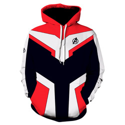 Marvel The Avengers 4 Endgame Quantum Realm Cosplay Costume Hoodies Men Hooded Avengers Zipper End Game Sweatshirt Jacket 4