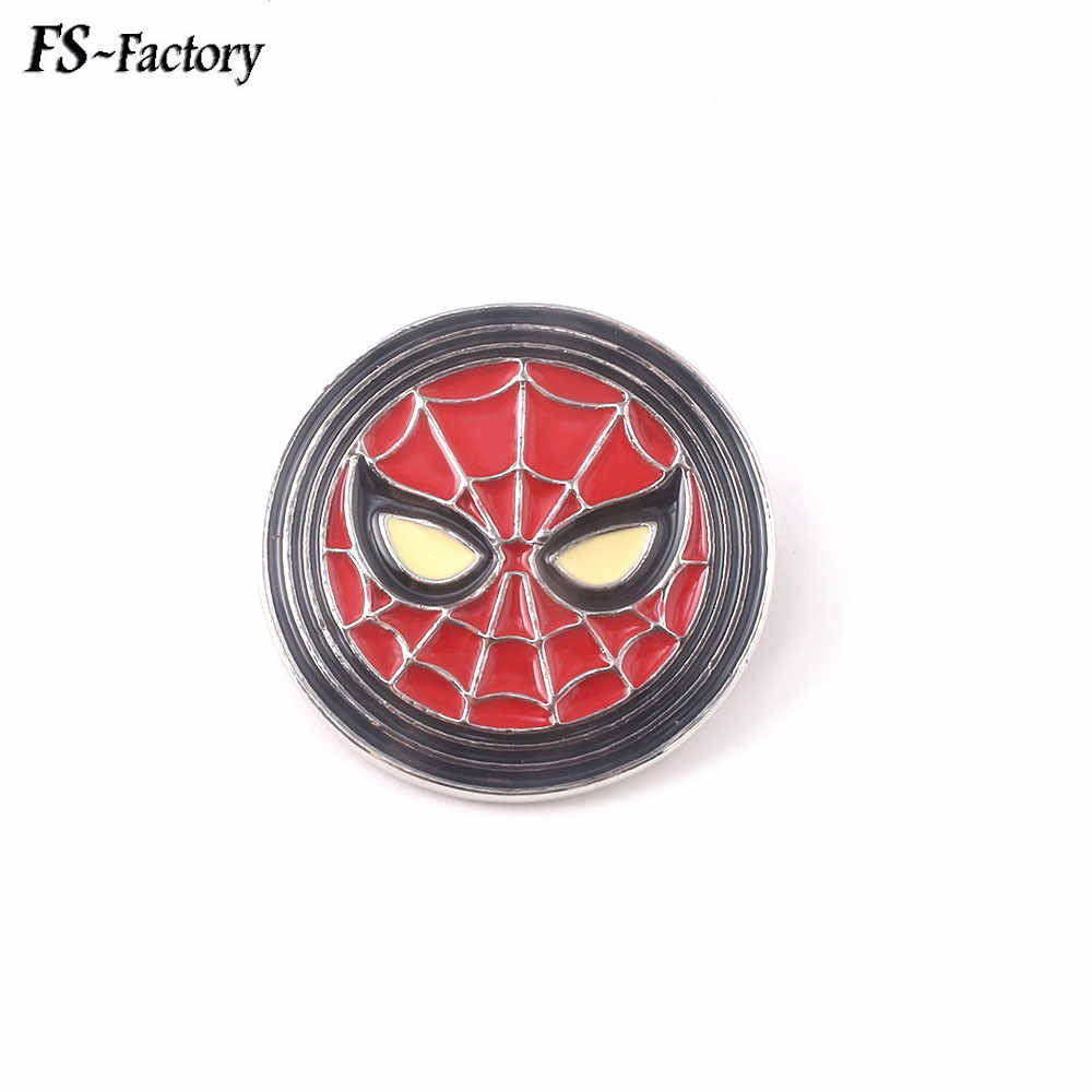 Marvel Avengers 4 Pin Bros Spider-Man Captain Marvel Thanos Thor Loki Deadpool Black Panther Lencana Bros Kerah Pin perhiasan
