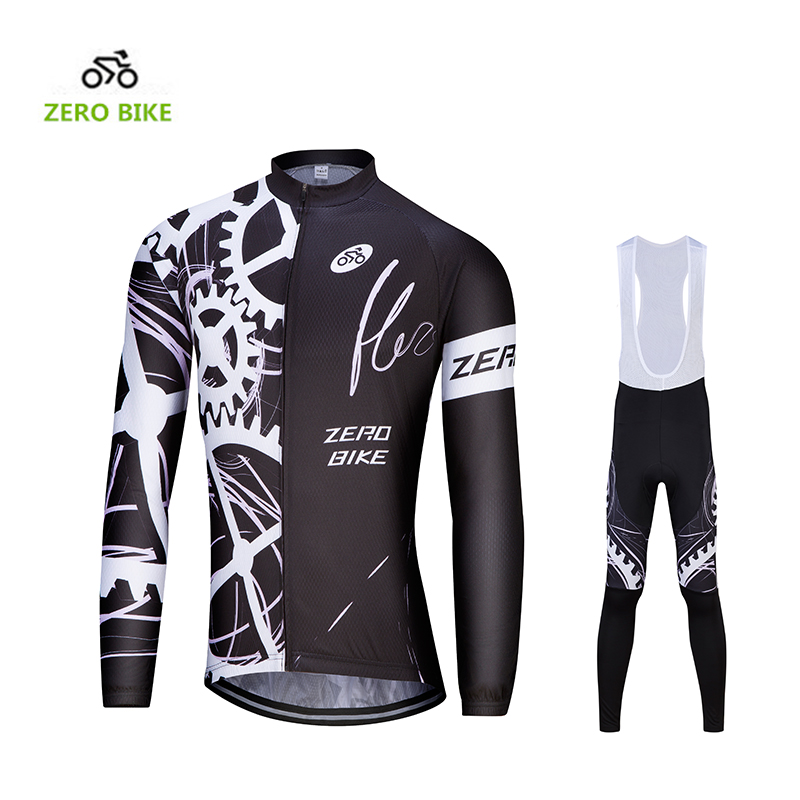 2017 ZEROBIKE Men's Cycling Jersey Bib pPants Breathable Outdoor Sports Long Sleeves Bike Clothing Trousers M-XXL basecamp cycling jersey long sleeves sets spring bike wear breathable bicycle clothing riding outdoor sports sponge 3d padded