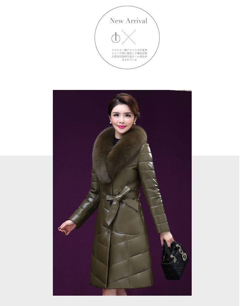 Fuchs Echtem Haut Armee Jacke Kleidung Aus Frauen Leder Daunenjacke Luxus Schafe Pelzkragen K4211 Gr Neue Damen 3A4RjL5