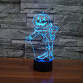 Halloween Christmas Pumpkin Man Led Table Lamp 7 Color Changing 3D Night Light for Bay Boys Girls Students Kids Gifts