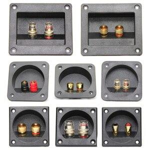Image 1 - 1 조각 순수 구리 터미널 컵 바나나 잭 소켓 바인딩 포스트 바나나 플러그 커넥터 박스 레드 + 블랙