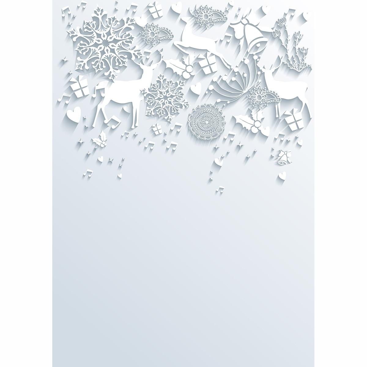 Weihnachten winter kulissen Schneeflocke geschenk elch glocken weiß ...