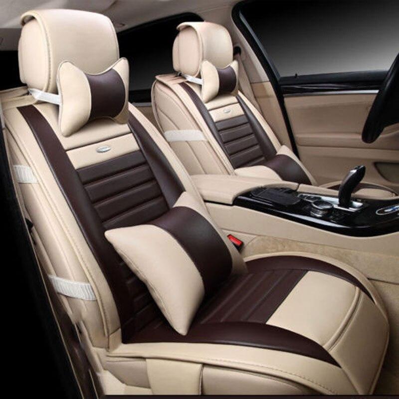 3D полный окружении автомобиля спереди + задняя крышка сиденье дышащая Подушки автомобиля Чехлы для сидений мотоциклов Универсальный кожан
