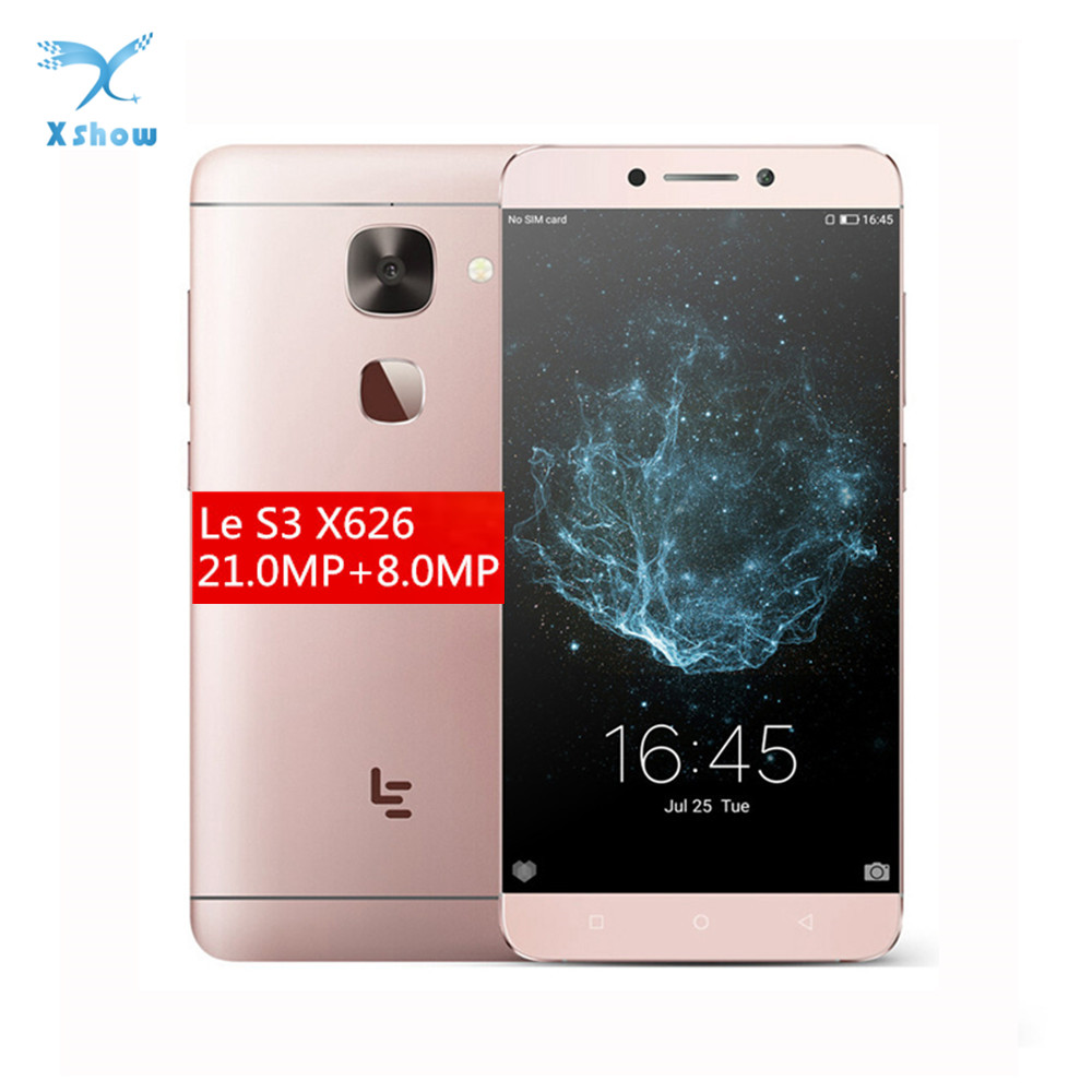 "Original Letv LeEco Le S3 X626 Cell Phone 5.5"" FHD Deca Core 1920X1080 4GB RAM 32GB ROM 21.0MP 4G LTE Android 6.0 Fingerprint"