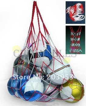 Filet de football sportif en plein air, sac de transport de 10 balles, équipement Portable de sport, sac de basket-ball, de volley-ball, 1 pièces 1
