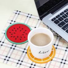 Mini coaster for table desk hot Silicone cup mat placemat stand hot fruit drink Pad individual for kitchen Pad Slip Holder tools