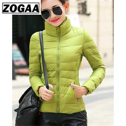 ZOGAA Women's Parkas Winter Jacket Coat For Woman Casual Solid Stand Collar Parka Jackets Female Cotton Coat Slim Fit Outwear 4