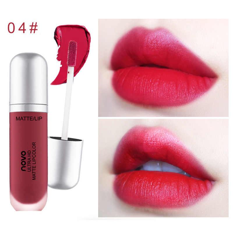 מכירה לוהטת נוזל שפתון זיגוג שפתיים לחות לאורך זמן מט קוסמטי לנשים ליידי