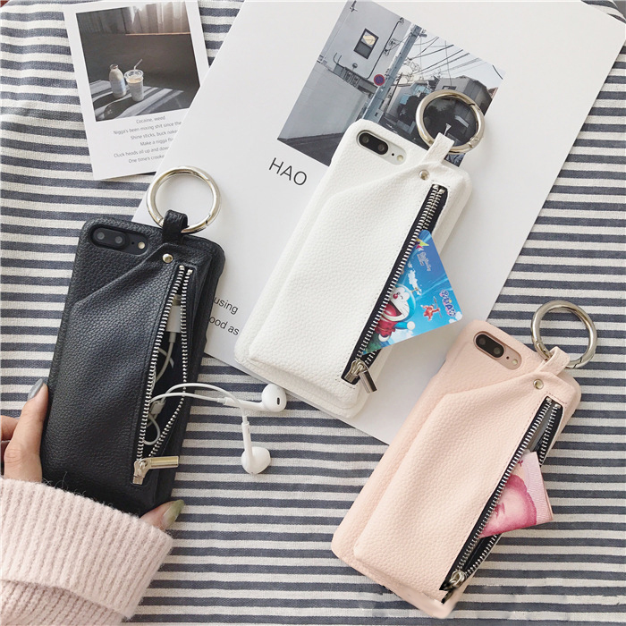 Kuutti Squishy Luxury Women Pocket Phone Bags Faux Leather Wallet Phone Cases for iPhone 6 6s 7 8 Plus X Mobile Accessories Gift