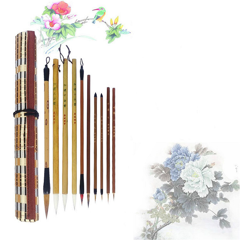 Beginner Getting Started Meticulous Painting Writing Brush Sets Freehand Flower and Bird Painting Watercolor Calligraphy Pen getting started with cadkey