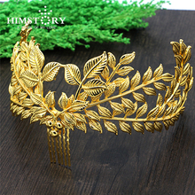 2015 Hot Sale Vintage Gold Leaf Hair Accessories Bridal Headpieces Comb Wedding Tiaras For Brides
