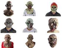 Latex Bloody Zombie Mask Horror Walking Dead Party Masks Halloween Adult Costume Cosplay  Fancy Dress Supplies