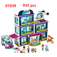 Lepin 01039 Friends Girl Series Building Blocks Toys Heartlake Hospital Kids Bricks Toy Girl Gifts Compatible